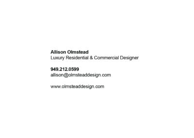 Allison Olmstead Business Card BACK