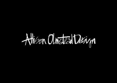 Allison Olmstead Logo High Res Black Vector V2 Background