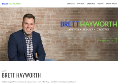 Brett Hayworth website