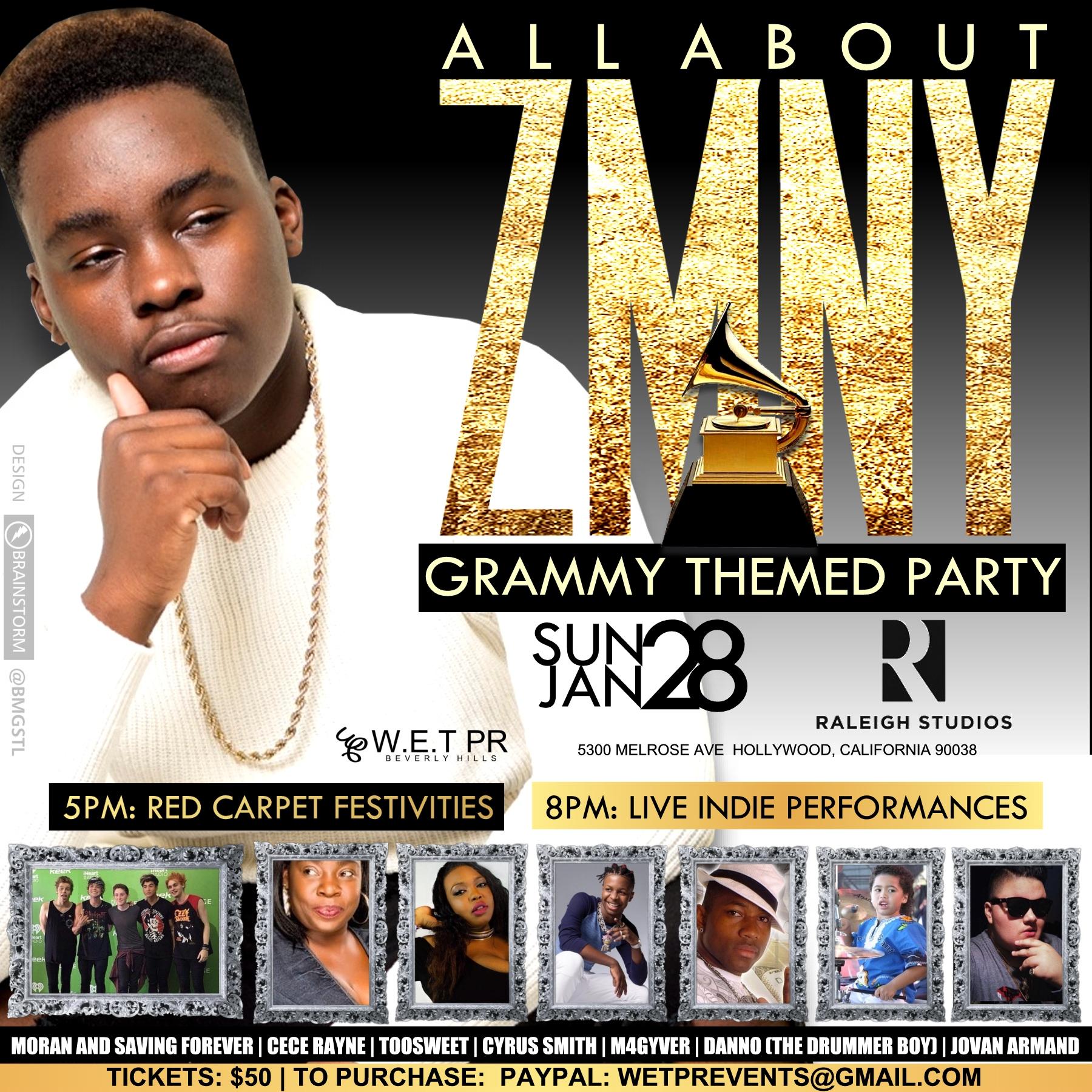 Grammy Party Flyer